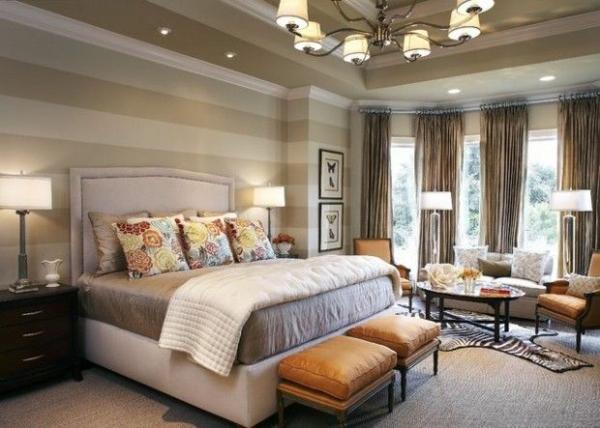 25 Attraktive Ideen Für Schlafzimmergestaltung Wohnzimmer Ideen Wandgestaltung Streifen
