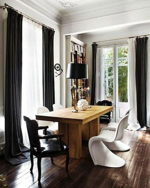 gardinen ideen mit pfiff - die vorhänge sind mehr als eine fensterdeko, Esszimmer dekoo