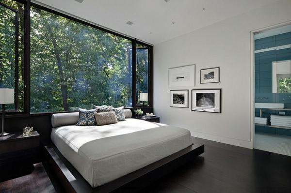 schlafzimmer ideen schöne aussicht bett