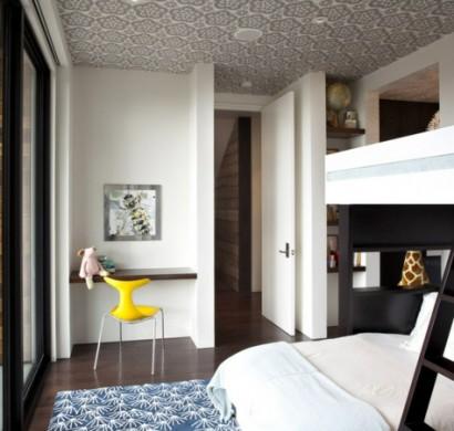 Die Zimmerdecke Gestalten   Wie Wäre Es Mit Gemusterten Tapeten?
