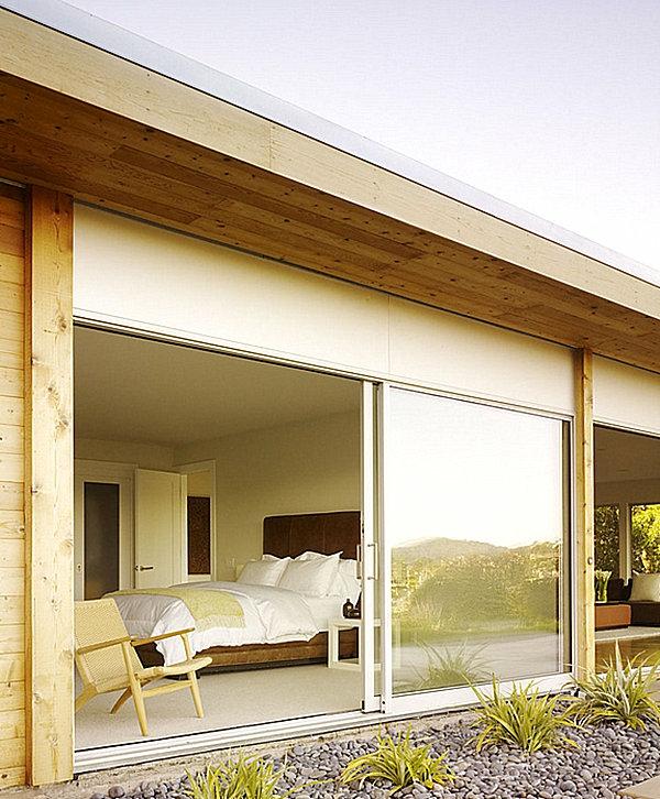 schlafzimmer mit verbindung mit außenbereich