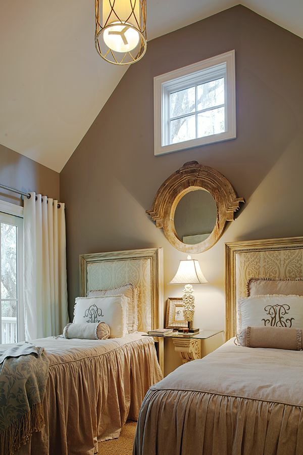 schlafzimmer schöne wandfarben 2 betten