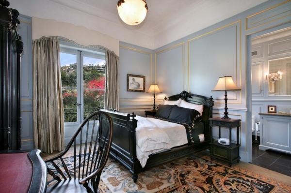 schlafzimmer wohnideen mit schwarz möbel