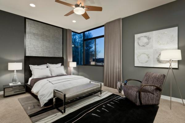 schlafzimmer zeitgenössisches design bett teppich