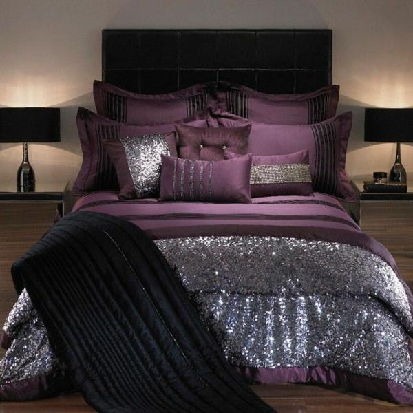 schlafzimmergestaltung mit lila und weiss ~ moderne inspiration ... - Schlafzimmergestaltung Mit Lila Und Weiss