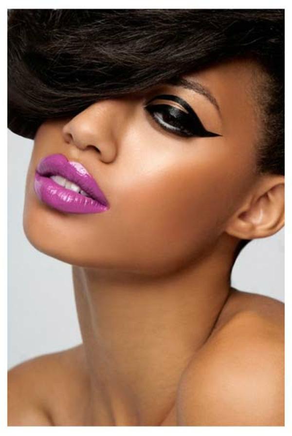 schminktipps abend-make-up lippenstift eyeliner