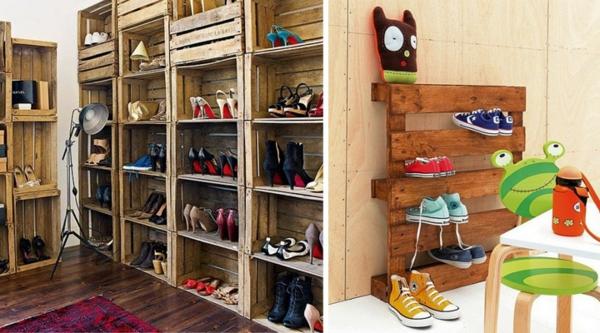 Kreative Schuhaufbewahrung schuhregal selber bauen 30 pfiffige diy ideen für sie