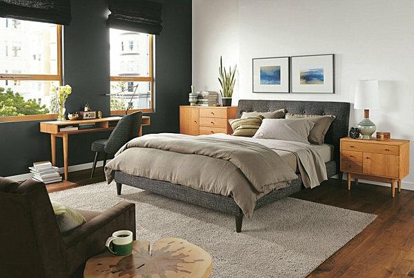 schicke, schwarze schlafzimmermöbel - eleganter charme - Schreibtisch Im Schlafzimmer