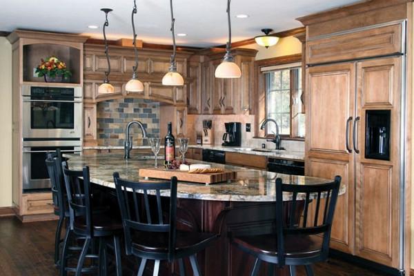 schwarz hocker küchen rustikal traditionell einrichtung