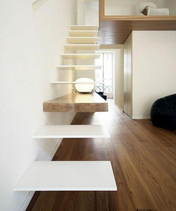 schwebende moderne treppe dekoration