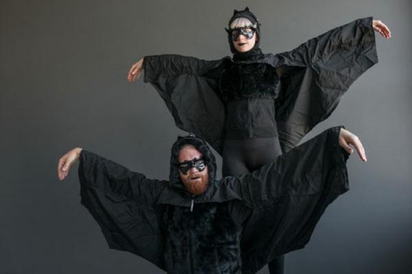 Selbstgemachte Kostüme karneval fasching helloween fledermaus