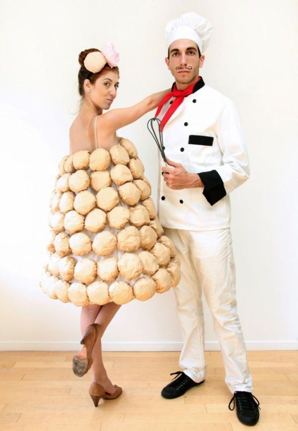 selbstgemachte kostüme karneval fasching helloween hochzeitskuchen