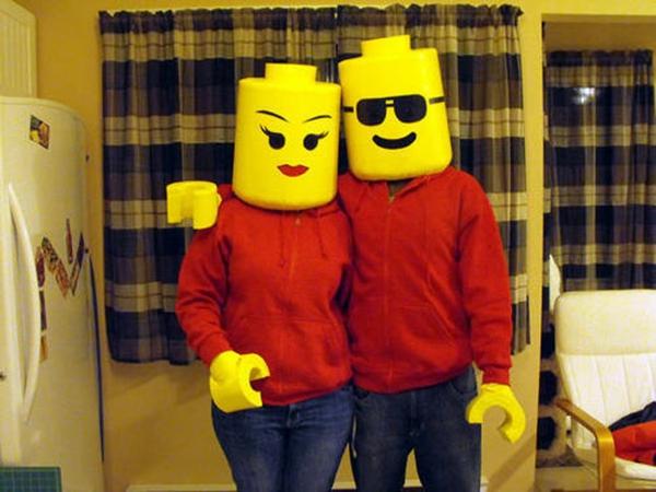 selbstgemachte kostüme karneval fasching helloween lego