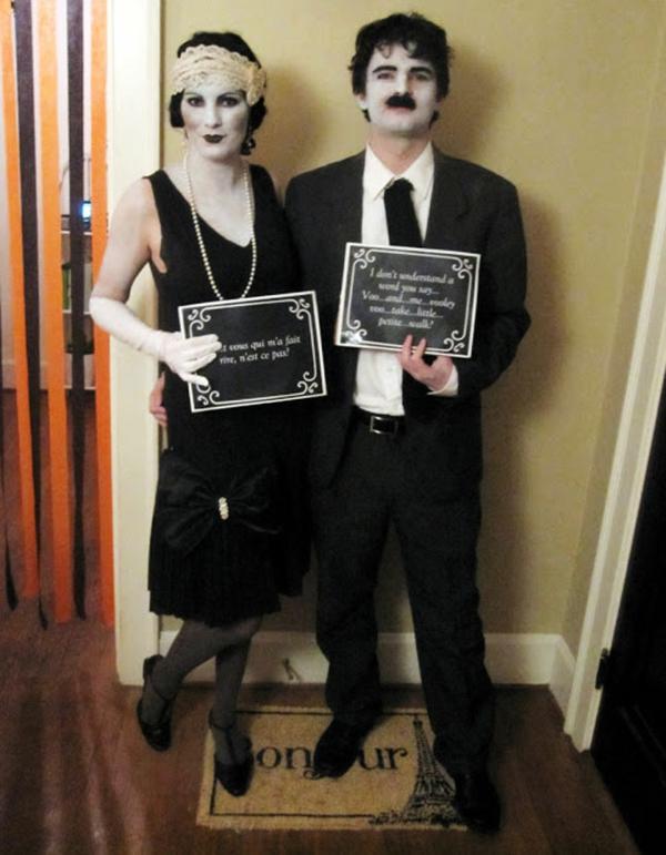 schwarz weiß kostüme karneval fasching stumm