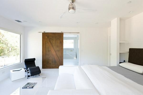 sofa weiß bequem Schlafzimmer minimalistisch einrichten komplett