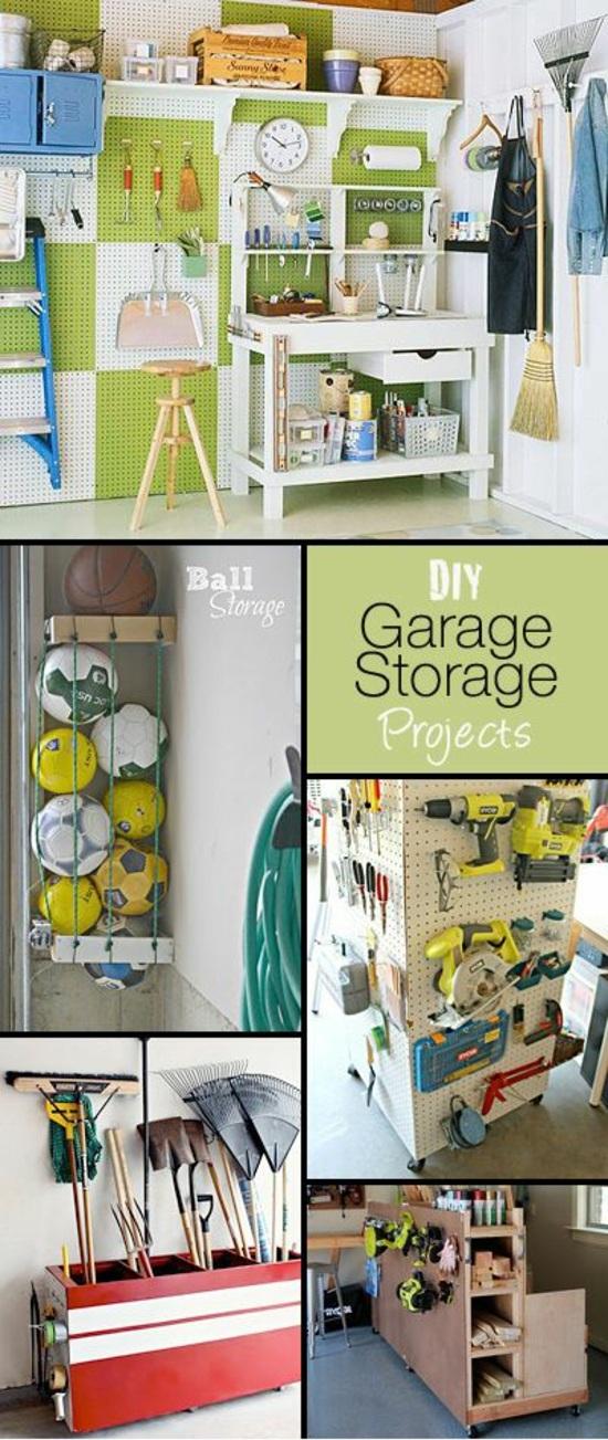 Die garage umbauen und in einen hobby oder fitnessraum - Stauraum ideen ...