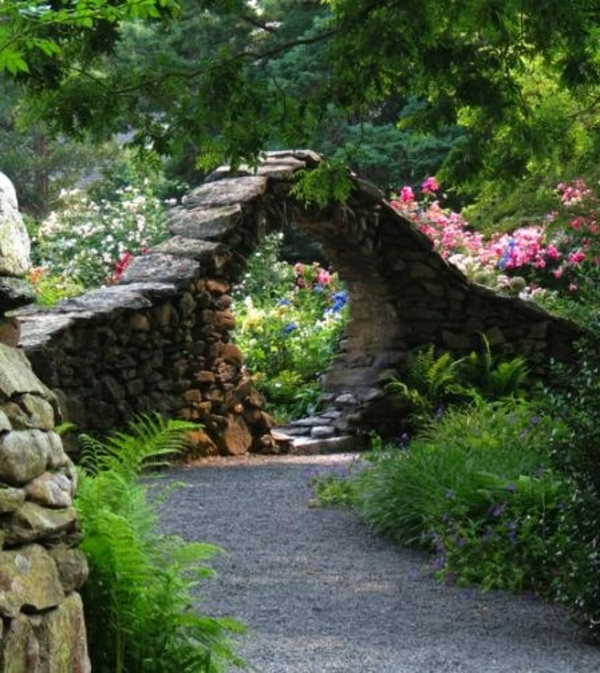 gartengestaltung mit steinmauern – airfax, Garten und Bauten