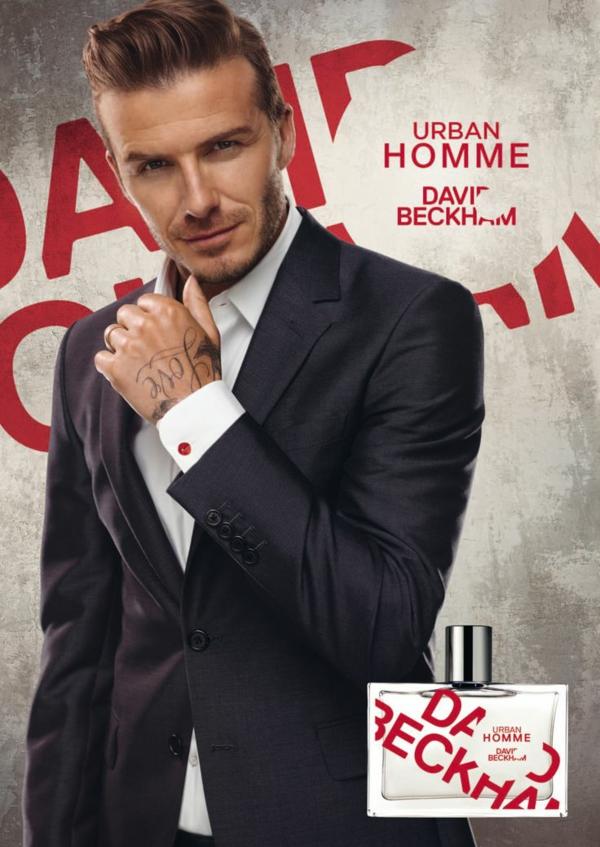 stilikone david backham frisur parfüm werbekampagne