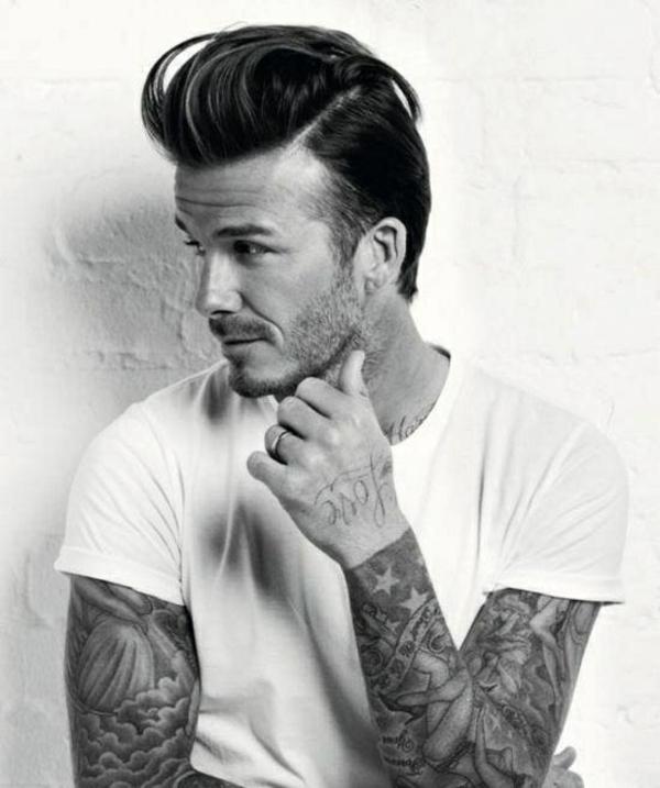 stilikone david backham frisur tattoos