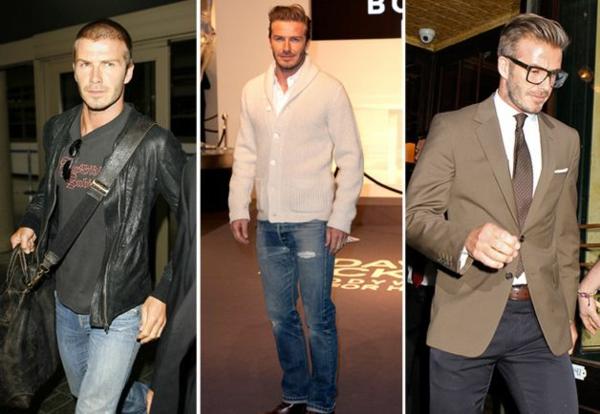 stilikone david backham frisur trendsetter mode ikone