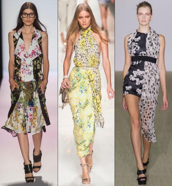 stoffmuster blumenmuster aktuelle modetrends ideen sommerkleider