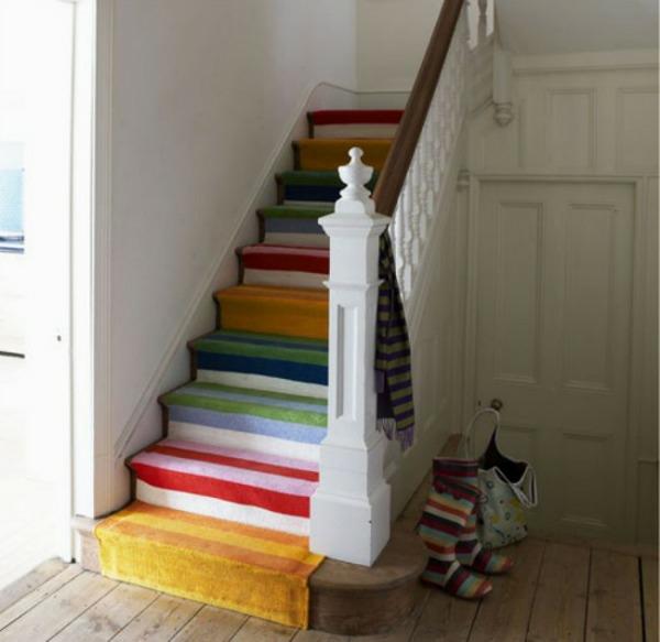 m rchenhafte treppenteppiche bringen kolorit. Black Bedroom Furniture Sets. Home Design Ideas