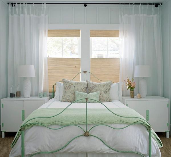 symmetrisch schlafzimmer weiß Coole Gardinen Ideen