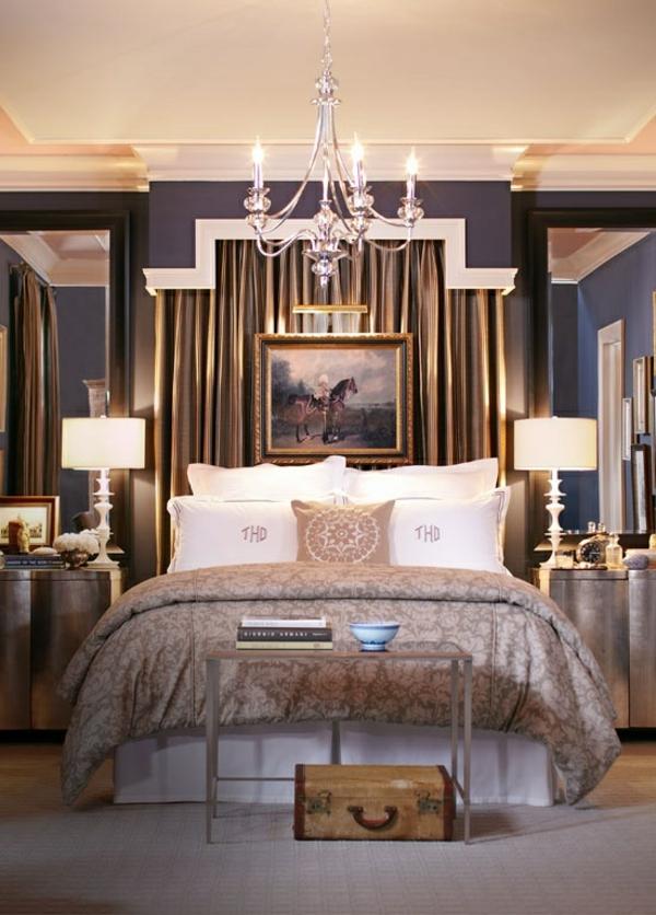 symmetrische ideen für schlafzimmer bett bild vorhang