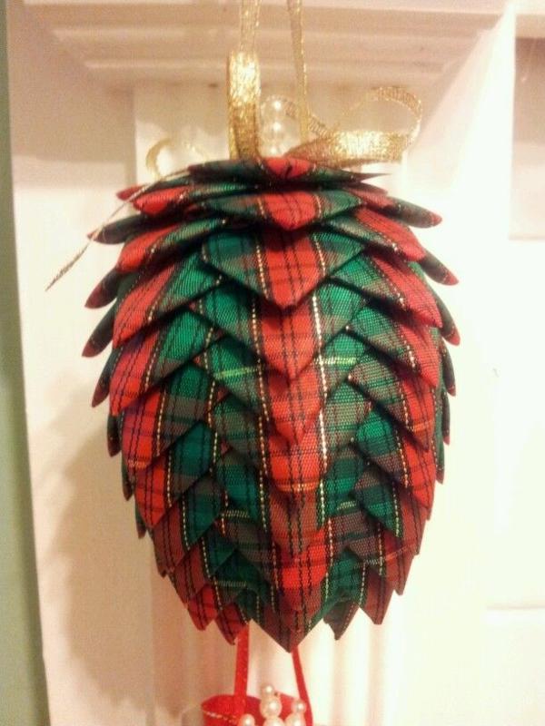 tannenzapfen diy dekoration weihnachten
