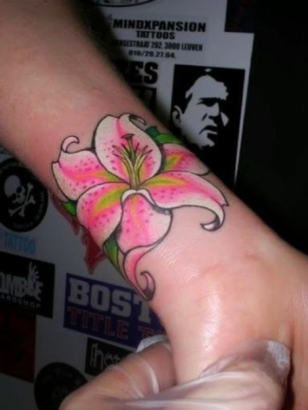 tattoo hangelenk bilder blume