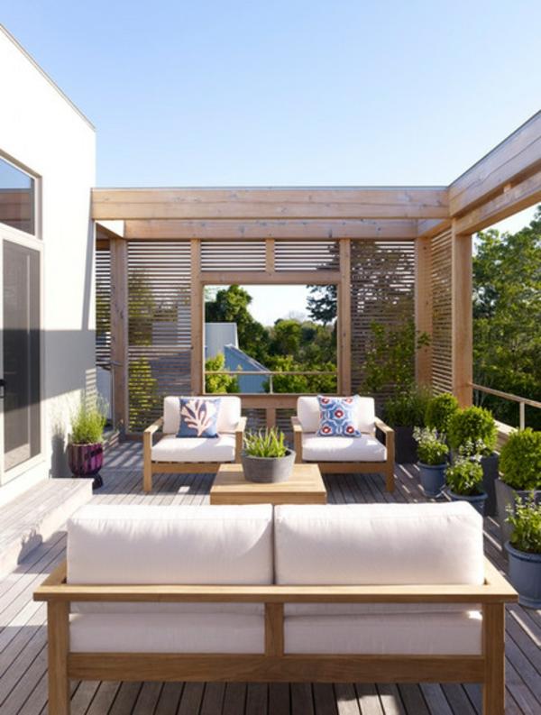 teak gartenmöbel sofa sessel tisch dekoration außenbereich