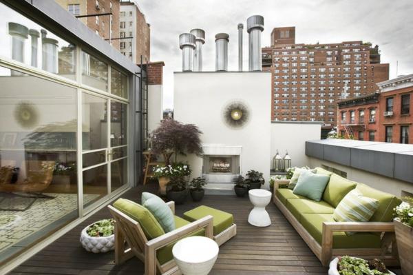 teak gartenmöbel terrassengestaltung ideen sitzecke