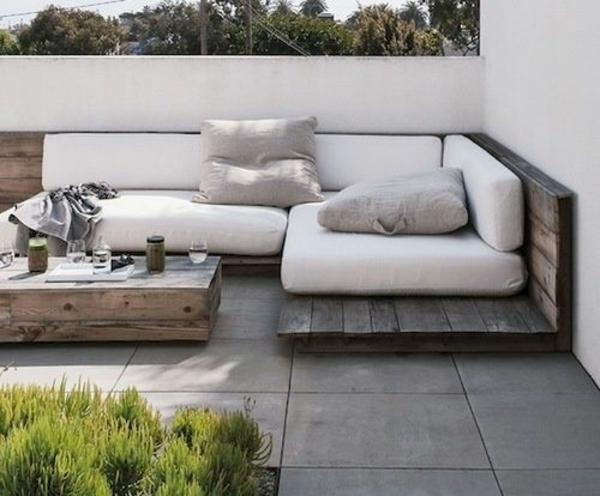terrassengestaltung bilder sofa holz dekoideen