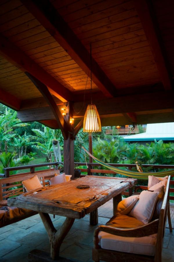 terrassengestaltung ideen im tropischen stil gartenmöbel