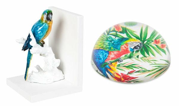 thematische dekoration tropisch papagei