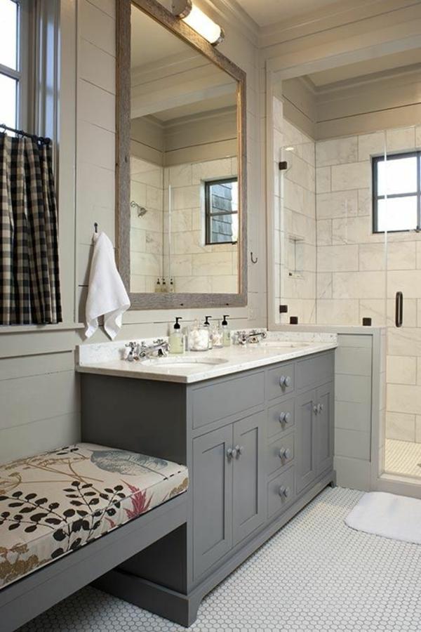 tolle idee für bank badezimmer möbel spiegel