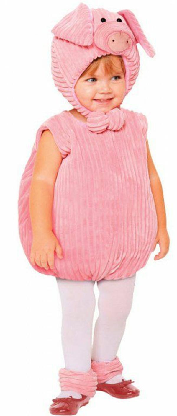 ideen für faschingskostüme kind kleines schweinchen