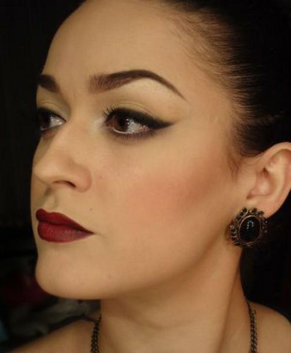tolle schminktipps abend make-up lippenstift eyeliner