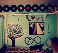 Trendy originelle Wandgestaltung im Jugendzimmer