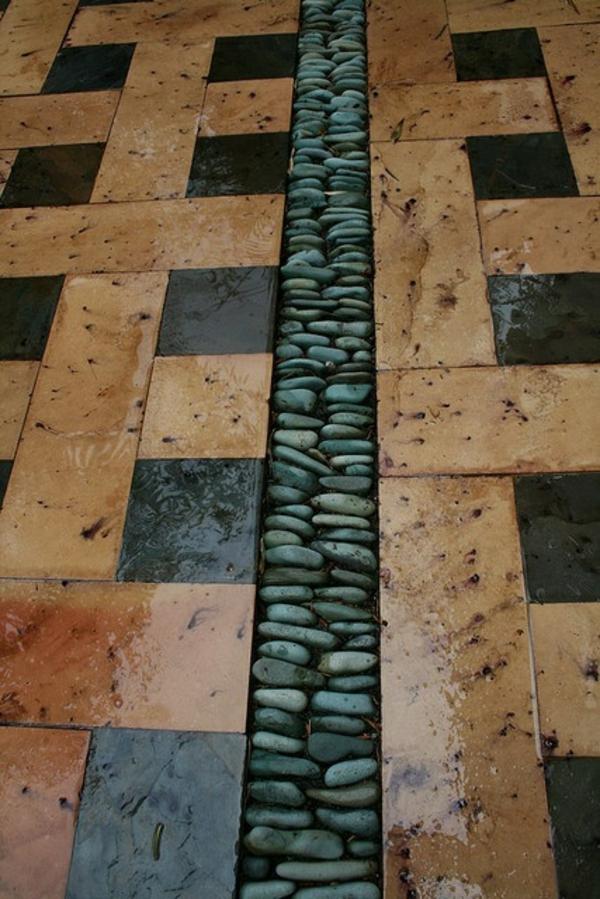 toller bodenbelag aus steinen patio