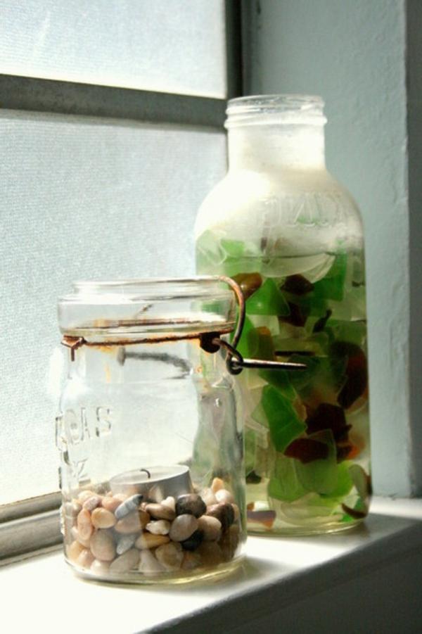 traditionell glas kiesel laternen garten kerze