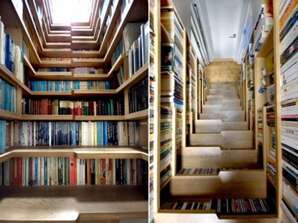 treppe in der bibliothek
