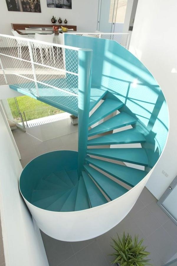 treppenhaus spiralform balu weiß