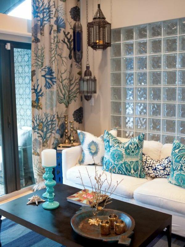 tropische dekoideen design sofa tisch gardinen