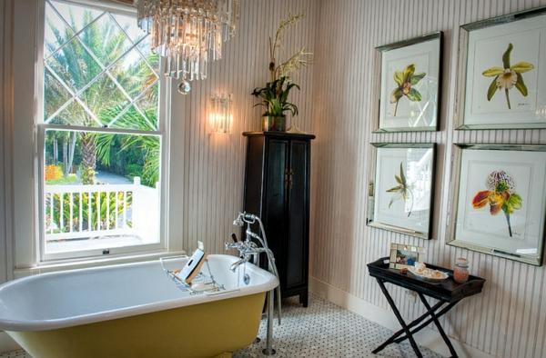 tropisches badezimmer badmöbel freistehende badewannen