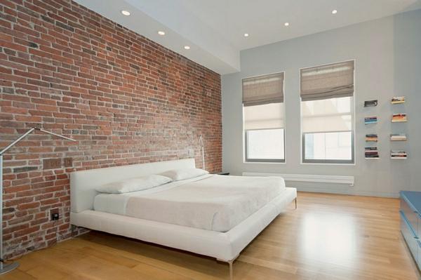 urban wohnstil wand schlfazimmer einrichten
