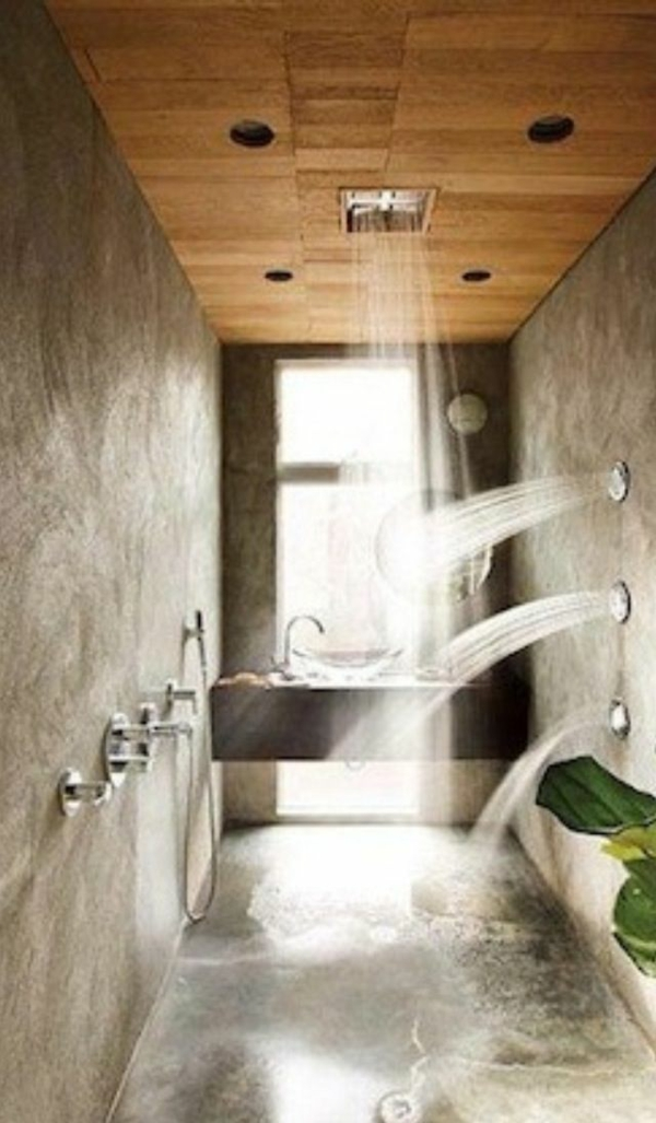 vertikale und horizontale duschen integrieren