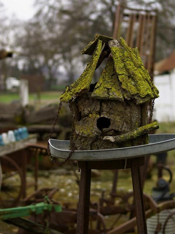 vogelhaus bauen holz umweltfreundlich dunkel