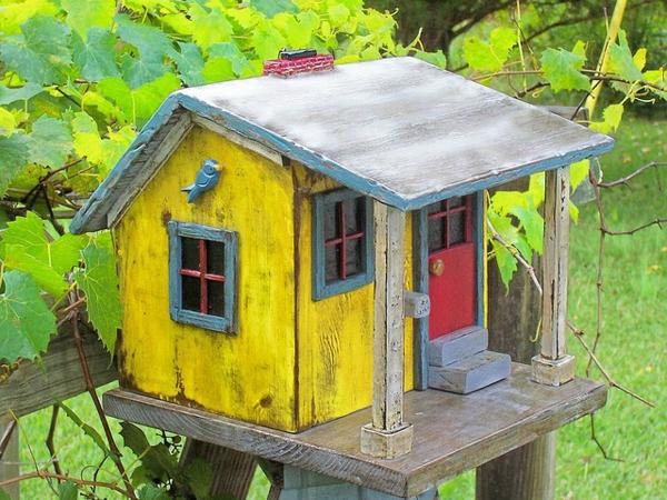 Vogelhäuser Holz Selber Bauen ~ Vogelhaus selber bauen – DIY Bauanleitung und 40 Ideen für Sie