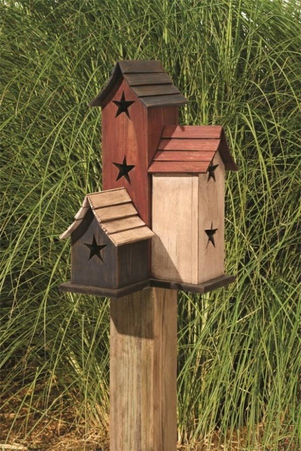 vogelhaus selber bauen holz umweltfreundlich lässig